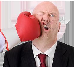 250 Man Taking Punch To Face