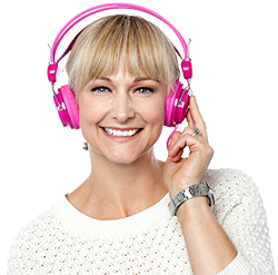 250px Middle Age Woman Headphones